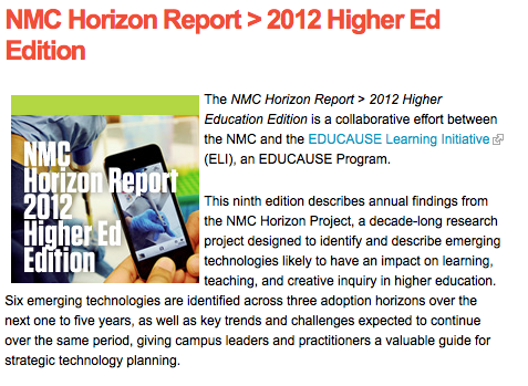 2012 Horizon Report