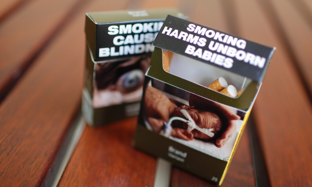 Australia Plain Packaging Cigarettes